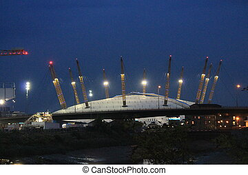 Millennium Dome O2 Arena - LONDON - February 2015 : The...