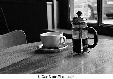 tabla, café,  Cafetería,  café, taza