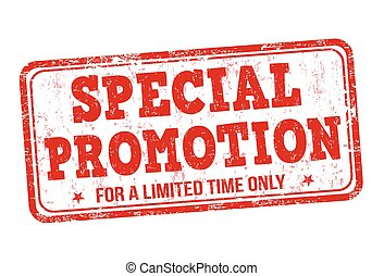 Special promotion stamp - Special promotion grunge rubber...