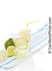 Elderberry lemonade. - Elderberry lemonade with fresh lemon...