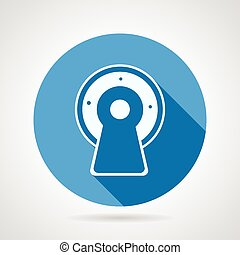 Flat vector icon for MRI - Flat circle blue vector icon...