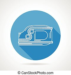 Flat line jumar vector icon - Flat round blue vector icon...