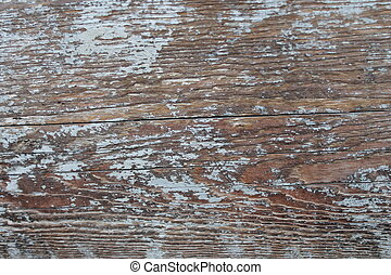 Old rustic white plank wall peeling paint