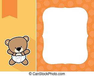 frame baby teddy bear - cute little baby teddy bear with...