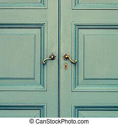 Door knob - vintage effect style pictures