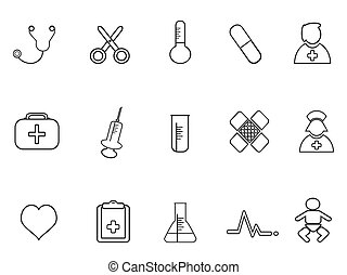 simple medical outline icon