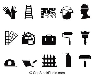 house painting icons set