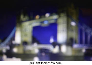 Blurry night-streets of London - Defocused view of London...