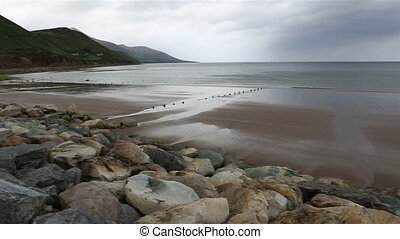 Beach on the Atlantic Ocean. Ring of Kerry in Ireland.