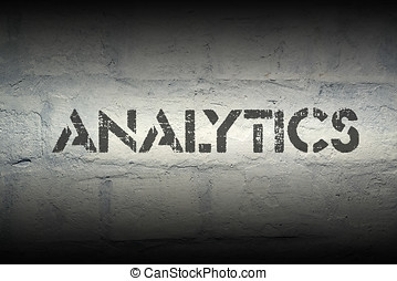 analytics - analythics stencil print on the grunge white...