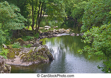 River Llugwy - The River Llugwy Afon Llugwy flows through...