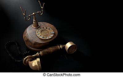Vintage Telephone Dark Off The Hook