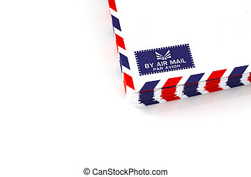 air mail envelope isolated background