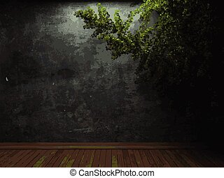 vector ivy and stone background