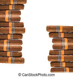 Cigarros, en, blanco,