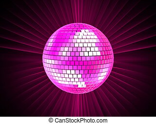 disco sphere - 3d rendered illustration of a pink disco ball...