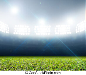 Generic Floodlit Stadium - A generic stadium with an...