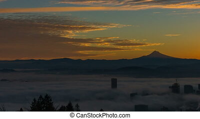 Time Lapse of Fog and Cityscape - Time Lapse and Panning...
