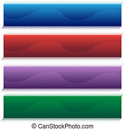 halftone wave banner set
