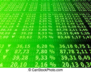 stock numbers - 3d rendered illustration of boards with...