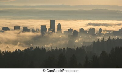 Time Lapse of Fog in Portland OR