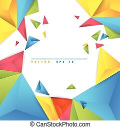 Vector color background abstract polygon triangle. polygonal...