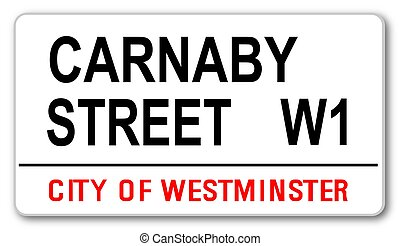 Carnaby Street - The street name sign from Carnaby Street...