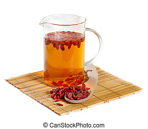 Herbal tea from goji berries