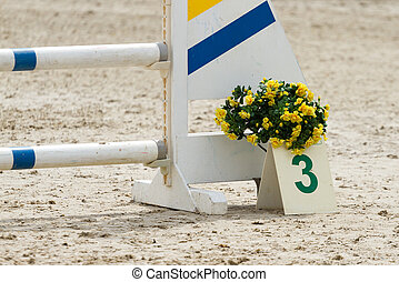 Equestrian concours ring - Fence on the equestrian concours...