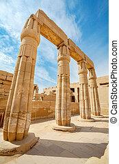 Temple of Karnak. Luxor, Egypt - Ruin of Karnak Temple....