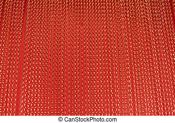 Red string courtain - Red metallic aluminium string courtain...
