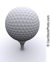 golf ball - 3d rendered illustration of an isolated white...
