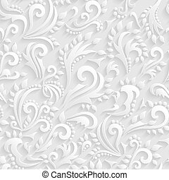 Vector Floral Victorian Seamless
