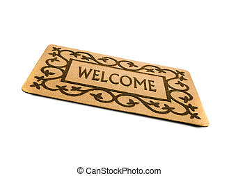 welcome door mat isolated