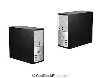 Computer cases isolated