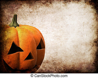 grunge pumpkin - 3d rendered illustration of a halloween...