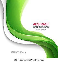 Vector Abstract curved lines background. Template brochure...