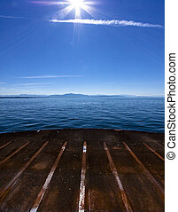 View of Riding a Ferry Boat