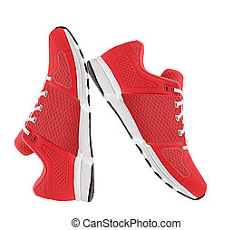 red womens sport shoes