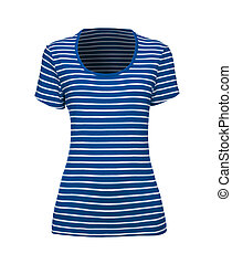 blue and white striped t-shirt - green and white striped...
