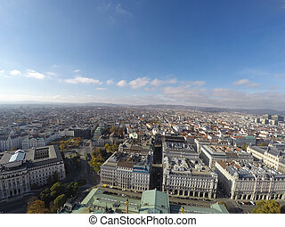 vista, aéreo, Viena