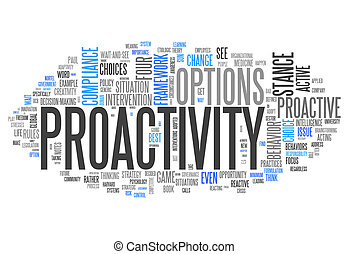 Word Cloud Proactivity - Word Cloud with Proactivity related...