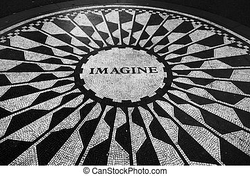 Imagine Mosaic at Central Park - New York, NY, USA August...