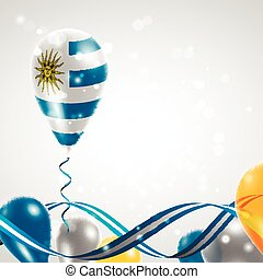 Flag of Uruguay on balloon - Flag of the Uruguay country on...