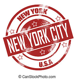 New York Stamp image with hi-res rendered artwork that could...