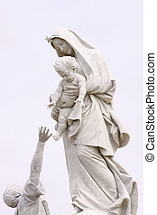 Mother Mary and a fisherman