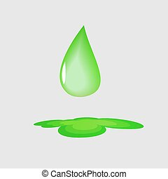 green energy drop eps 10 vector illustration