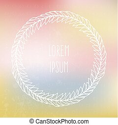 Frame on blured background - Perfect hand drawn frame on a...
