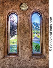 El Santuario de Chimayo - View from inside historic...