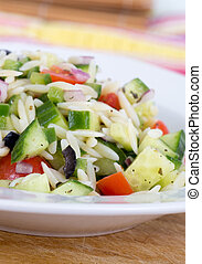 Mediterranean greek orzo salad - Mediterranean greek orzo...